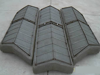 Three wavelike demister pad with top grids.
